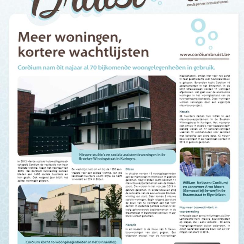 Cordium Bruist. Krant vol verhalen. Edities 2013 - 2014